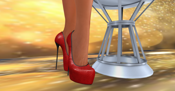 MPP Chic Party Dress, MPP Leather pumps, The Dark Fae's Holiday Side Table in Gold_002